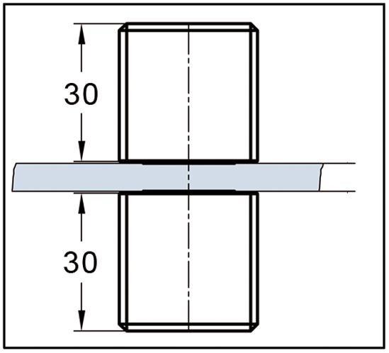 Shower Doorknob both sides