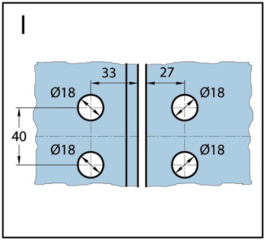 Duschtürband Wellness® Glas-Glas 135° / 180° nach außen öffnend