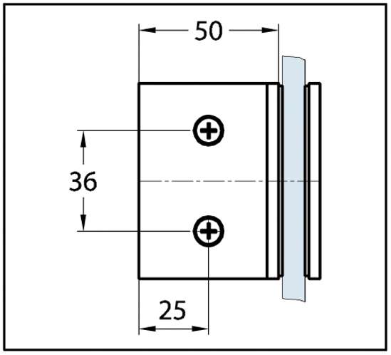 Winkelverbinder Wellness® Glas-Wand 90°