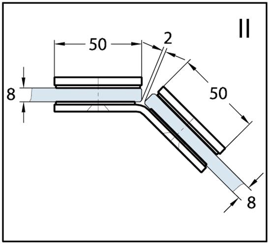 Winkelverbinder Wellness® Glas-Glas 135°
