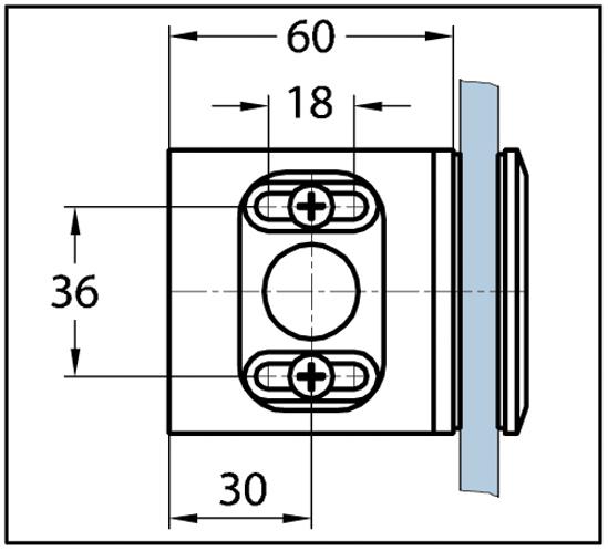 Winkelverbinder Milano Glas-Wand 90°