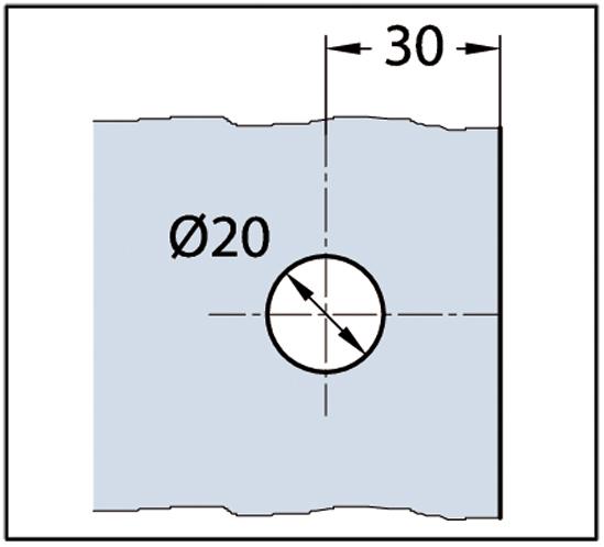 Winkelverbinder Milano Glas-Glas 135°
