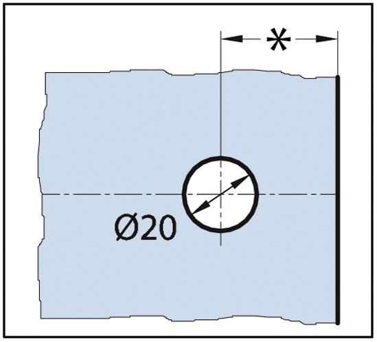Winkelverbinder Milano Glas-Wand 45° - 90° verstellbar