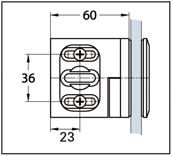 Winkelverbinder Milano Glas-Wand 90° - 137° verstellbar