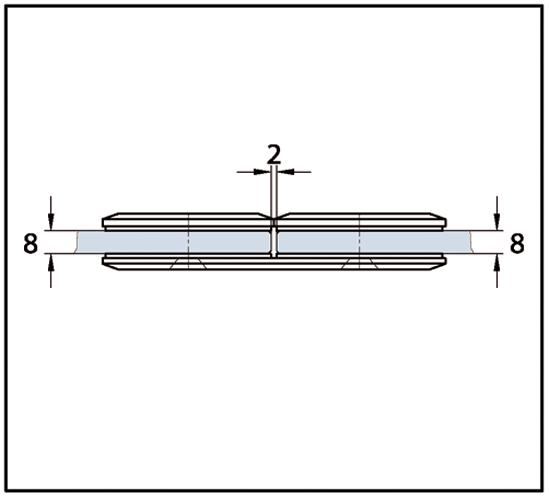 Längsverbinder Milano Pur Glas-Glas 180°