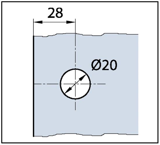 Winkelverbinder Quadrato Glas-Wand 90°