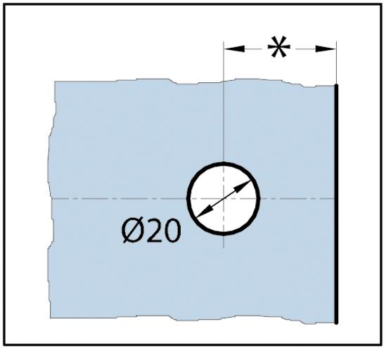 Winkelverbinder Quadrato Glas-Wand 45° - 117°