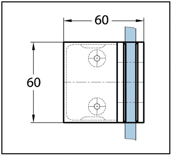 Duschtürband Milano Original Glas-Glas 90°