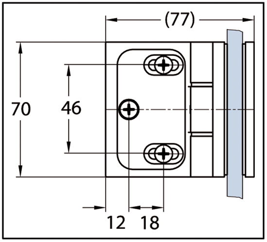 Duschtürband Wellness® Premium Glas-Wand 90° nach innen öffnend DIN links