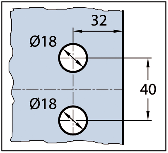 Duschtürband Wellness® Premium Glas-Wand 90° nach außen öffnend DIN links