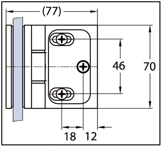 Duschtürband Wellness® Premium Glas-Wand 90° nach innen öffnend DIN rechts