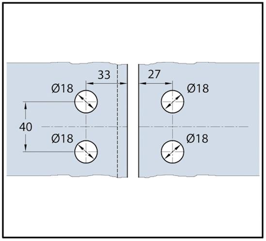 Duschtürband Wellness® Premium Glas-Glas 135° nach außen öffnend DIN rechts