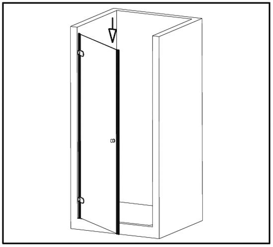 Duschtürdichtung selbstklebend mit Balg für 8 - 12 mm