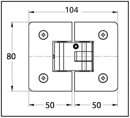 Duschtürband Easy Glas-Glas 180°