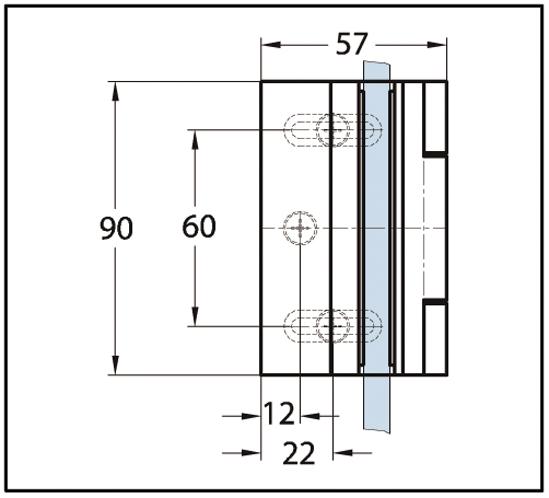 Duschtürband Bella Glas-Wand 90° nach außen öffnend