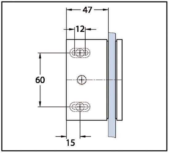 Winkelverbinder Bella Glas-Wand 90°