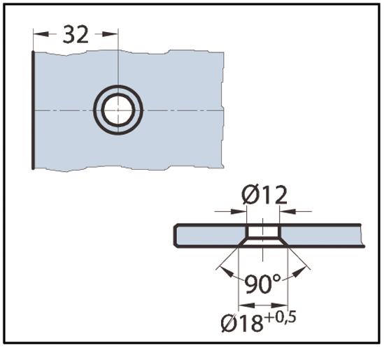 Winkelverbinder Next Glas-Wand 90°