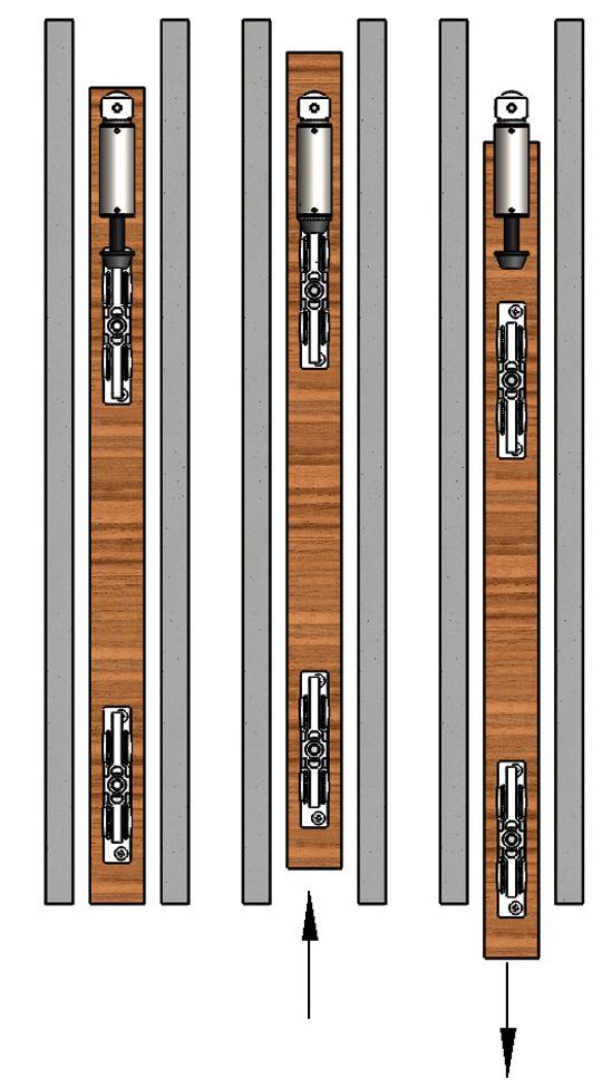 SlideTec modul 80 Türaussteller für Wandtaschenmontage