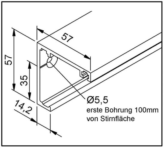 SlideTec optima 50 / 80 Laufschiene Wandmontage