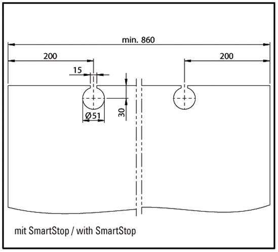 SlideTec modul 80G Zubehörset eckige Abdeckkappen ESG / VSG 8 - 10,76 mm
