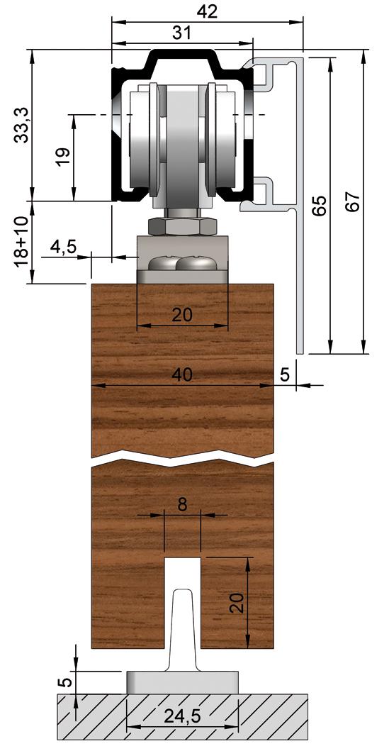 SlideTec modul 80H Zubehörset