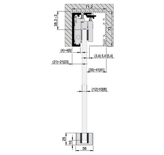 SlideTec optima 150 Laufschiene Deckenmontage