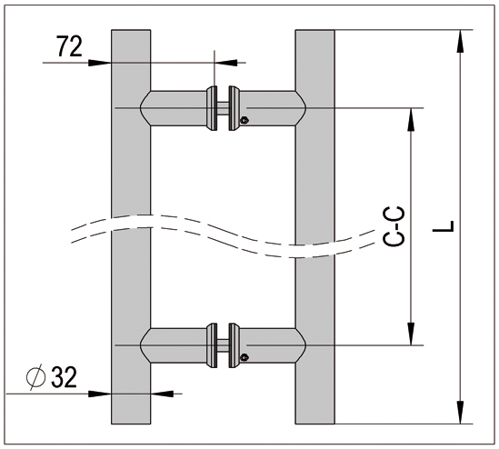 Ручка-штанга ø 32 mm
