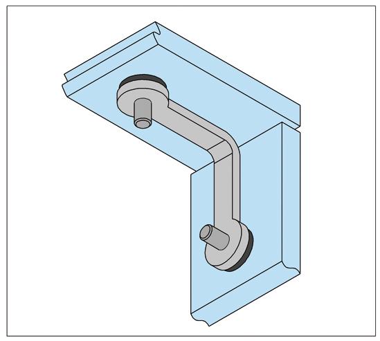 glashoekverbinder 2-voudig