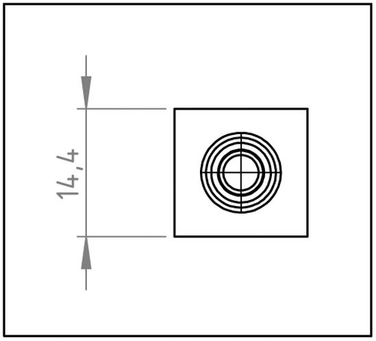 Glastür-Zapfenband