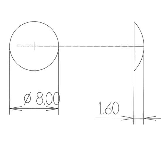 Elastikpuffer ø 8 mm Höhe 1,6 mm
