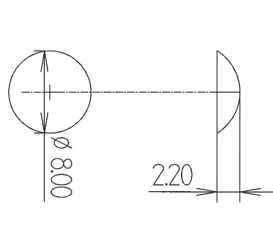 Elastikpuffer ø 8 mm Höhe 2,2 mm