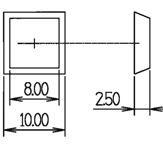 Elastikpuffer Höhe 2,5 mm