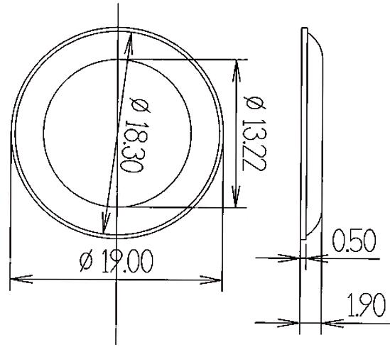 Elastikpuffer Höhe 1,9 mm