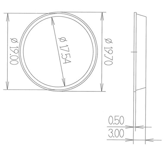 Elastikpuffer Höhe 3,0 mm