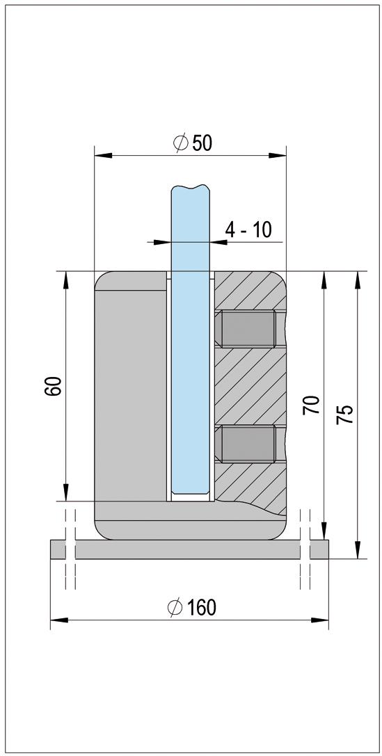 VetroScreen Standfuß