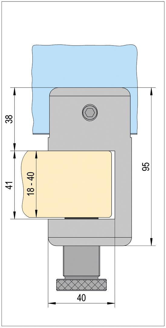 VetroScreen klemhouder 90°