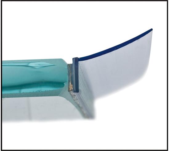 Duschtürdichtung selbstklebend mit seitlicher Dichtlippe für 8 - 12 mm