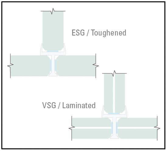G2G - Glass partition joints 3-Way