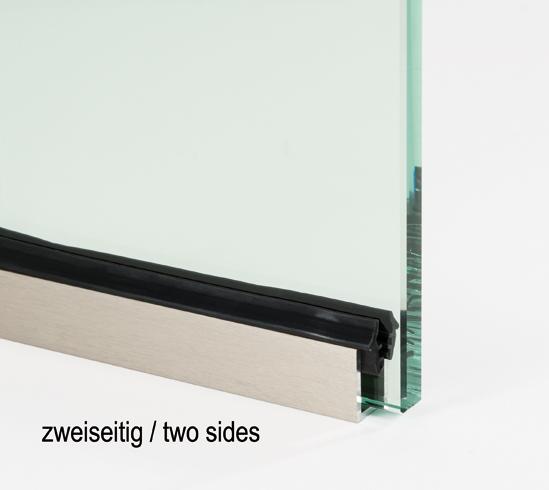 Silikonprofil für die Klemmung von Glas in Profilen