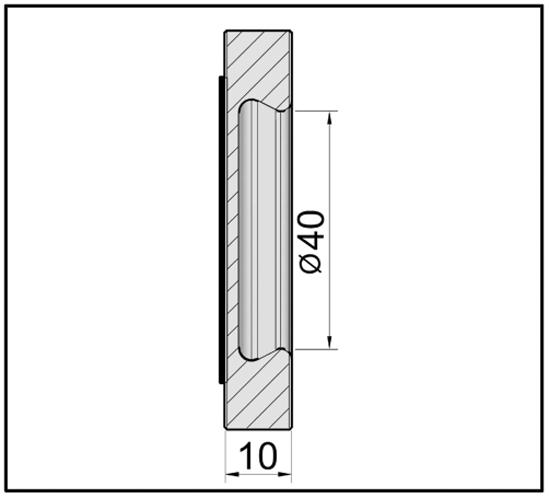 Griffmuschel quadratisch selbstklebend