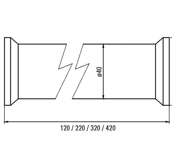Shelf Support ø 40 mm incl. stainless steel bonding plate