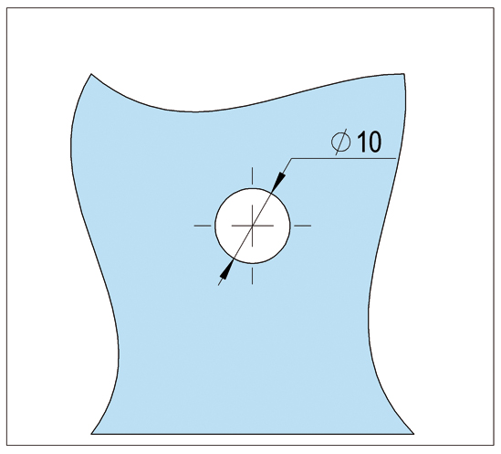 Punthouder ø 13 x 20 mm met vlakke kop