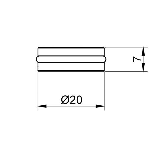 Glass Shelf Support ø 20 x 7 mm