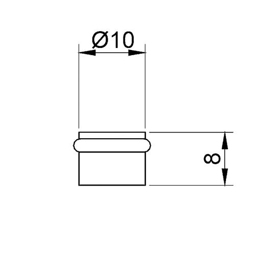 Glass Shelf Support ø 10 x 8 mm