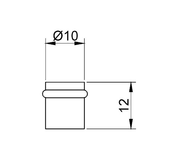 Glasbodenträger / Türstopper aus Edelstahl