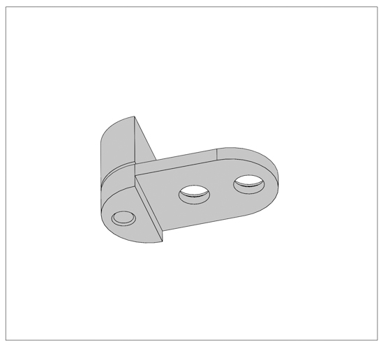 Glass Door Hinge Swing round small ø 13/16