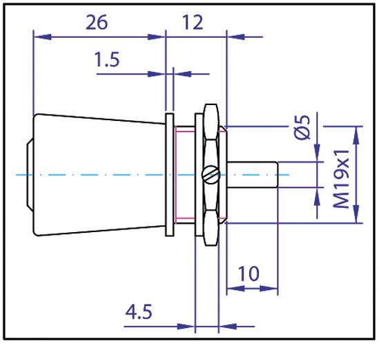 Glasschiebetürschloss / Knopfzylinder