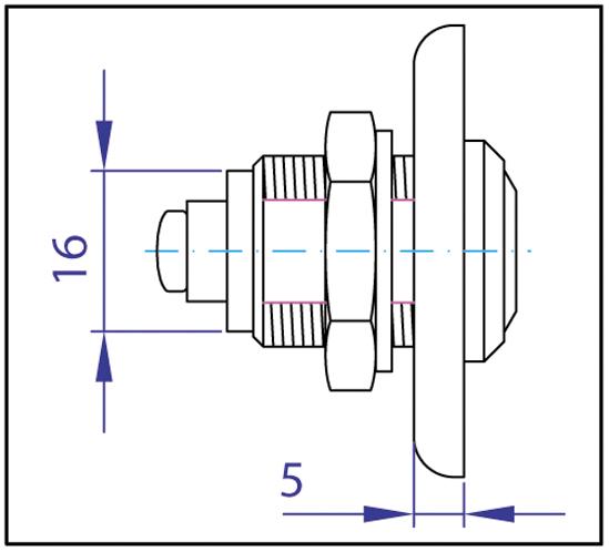 Zylinder-Hebelschloss
