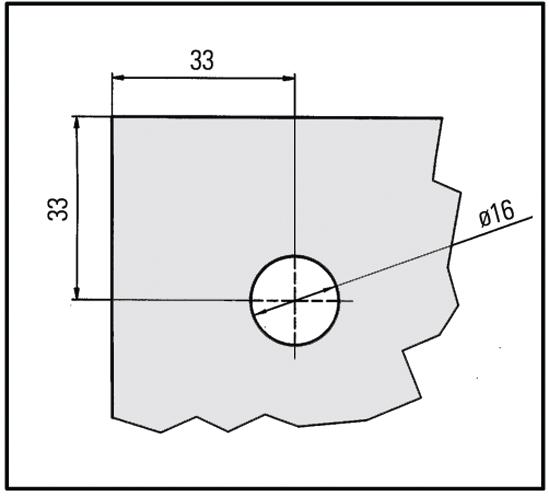 Zylinder-Hebelschloss für einflügelige Türen