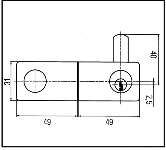 Zylinder-Hebelschloss für zweiflügelige Türen